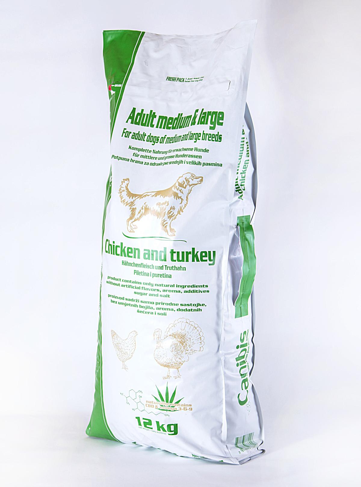 Canibis piletina puretina srednji veliki 12kg fr 1200