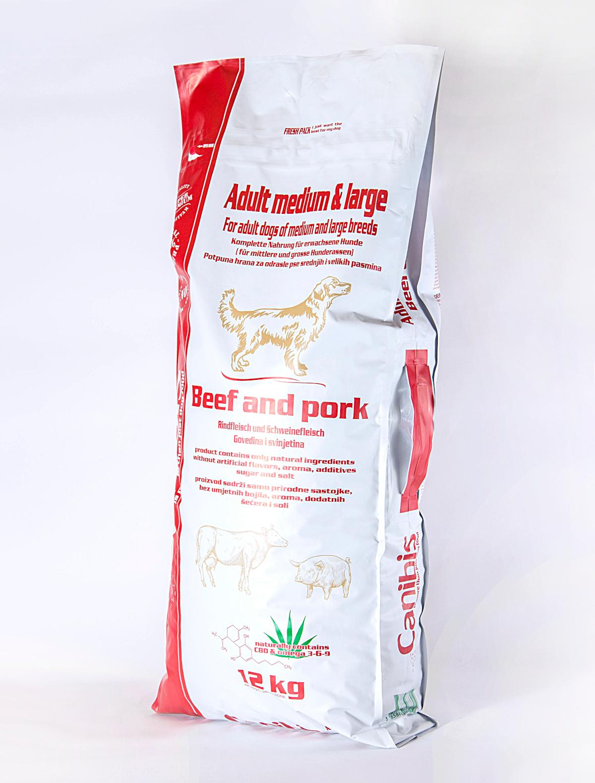Canibis svinjetina govedina srednji veliki 12kg fr 1200